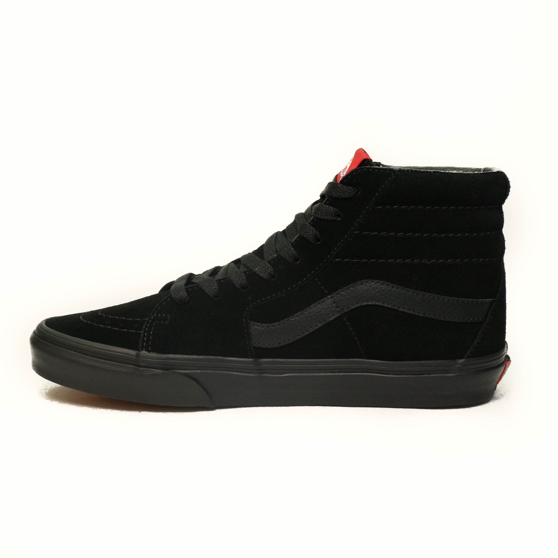 vans sk8 black black